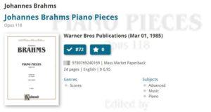 brahms book